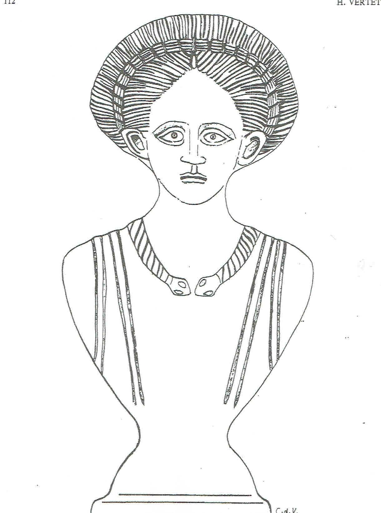 Buste feminin dessin h v