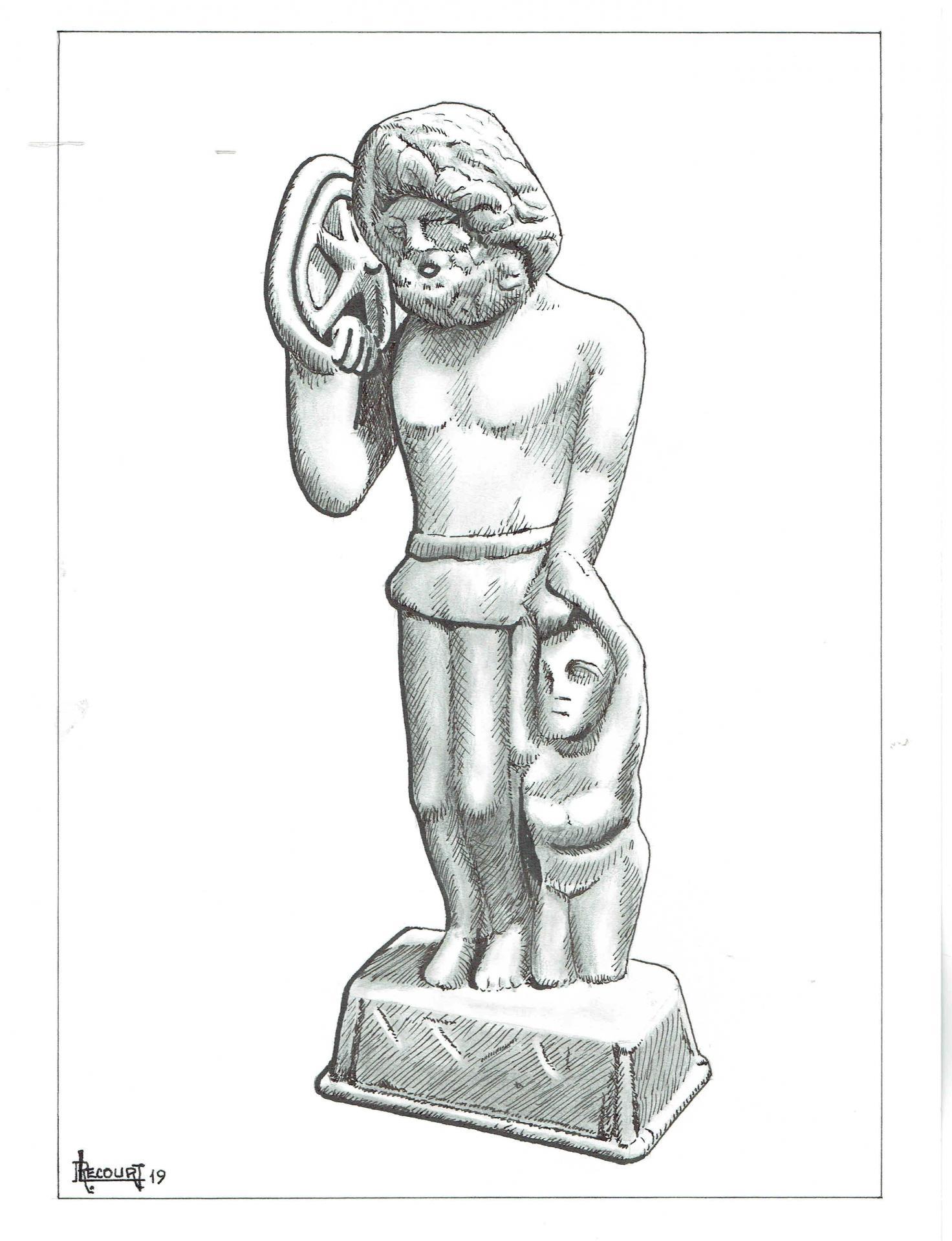 Taranis, dessin de Robert Lecourt