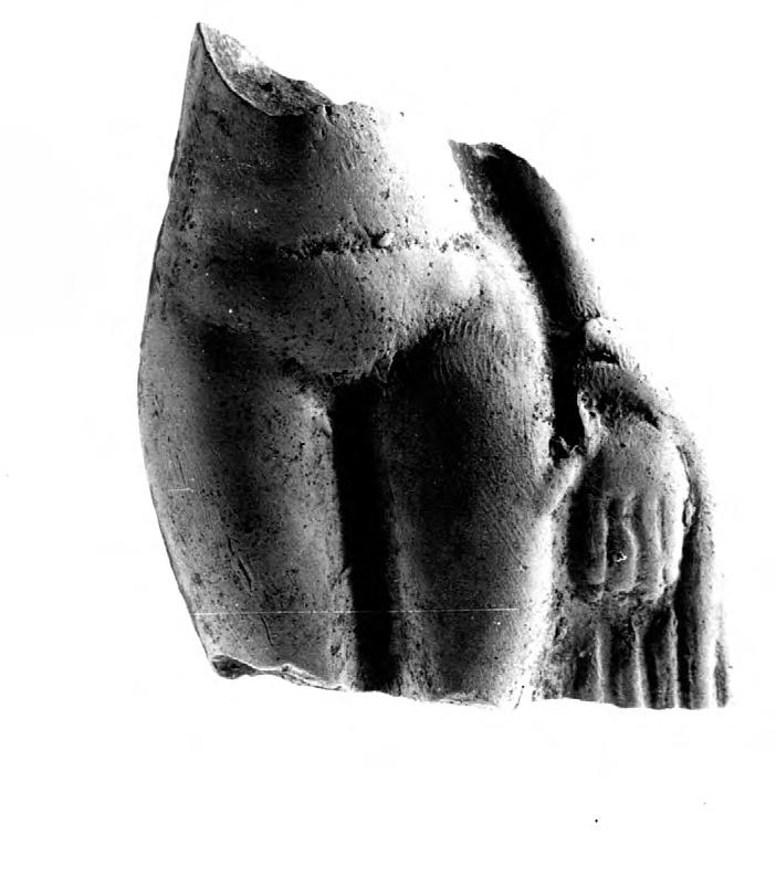 Fragment de Vénus Figurine en terre blanche