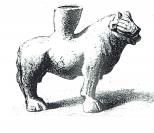 Lion debout vase