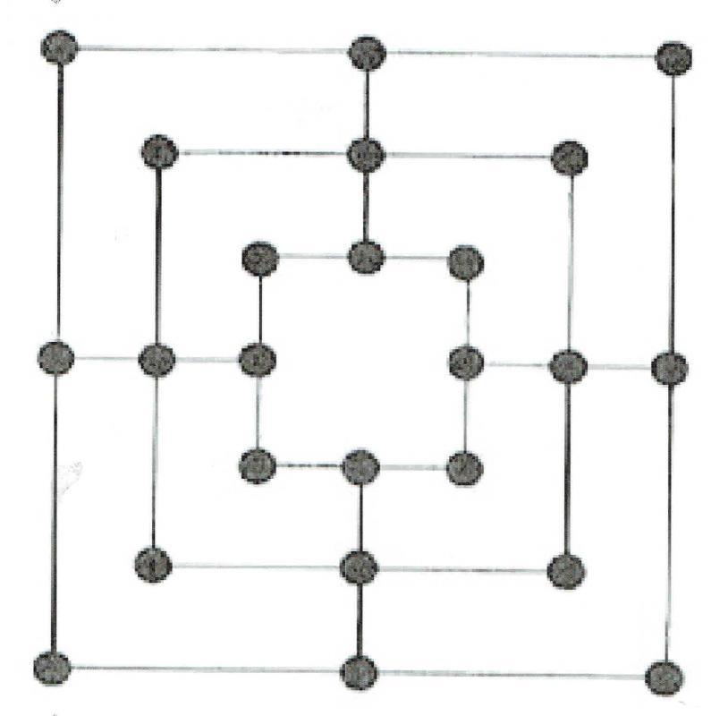 Marelle 3 carres plateau a4
