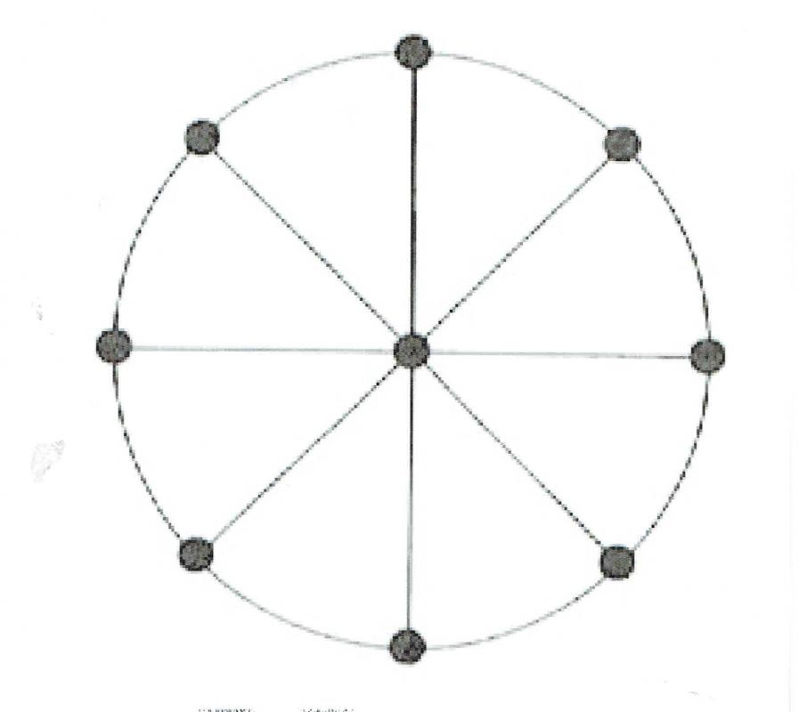 Marelle 4 diametres plateau